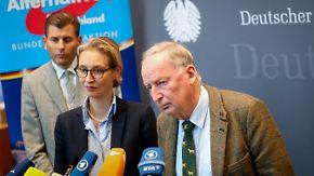 """Weidel: """"Zum Scheitern verurteilt"""": Petry-Austritt verschlägt Gauland die Sprache"""