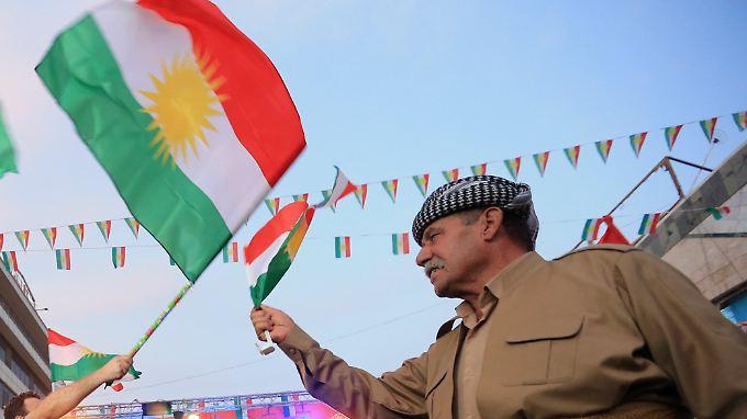 Seit Tagen feiern die Kurden im Nordirak bereits. Die große Mehrheit für die Unabhängigkeit war erwartet worden.