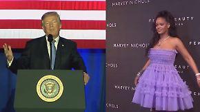 Hilfe für Puerto Rico nach Hurrikan: Rihanna knöpft sich Trump auf Twitter vor