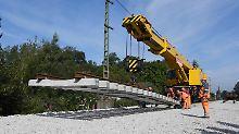 Pendler können aufatmen: Rheintalbahn ab Montag wieder frei
