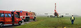 Zwischenfall bei der Landung: Air-Berlin-Jet steckt auf Sylt fest