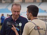 Einst mit Littbarski beim MSV: Trainer Jaspert genießt in Beirut den Respekt