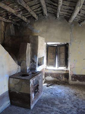 Raum eines Hauses in Gangi: Das Steinhaus kann für einen Euro erworben, muss dafür aber restauriert werden.