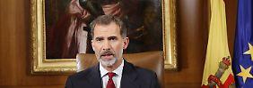 """""""Stabilität Spaniens in Gefahr"""": Felipe erhebt Vorwürfe in Katalonien-Krise"""
