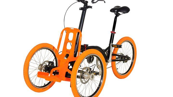 Dank Neigungstechnik fährt sich das Dreirad Kiffy besonders dynamisch.