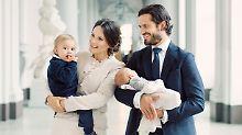 Eine schrecklich süße Familie: Schweden-Royals zeigen sich mit Gabriel