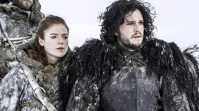 """Rose Leslie und Kit Harington lernten sich am Set von """"Game of Thrones"""" kennen und lieben."""