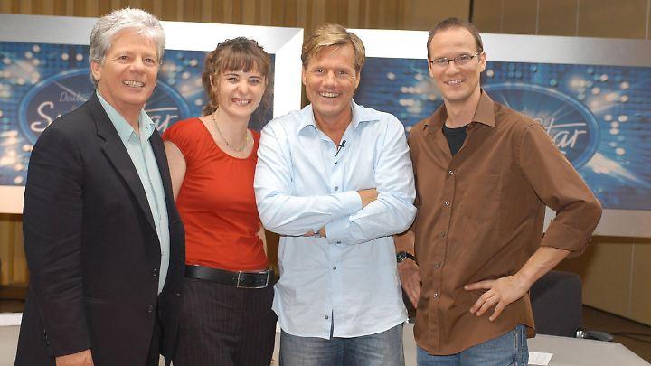 So sah sie damals aus, die erste DSDS-Jury: Thomas Stein, Shona Fraser, Dieter Bohlen und Thomas Bug (v.l.n.r.).