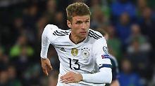 Geht doch: Neben Joachim Löw in der Nationalmannschaft hat Thomas Müller nun auch beim FC Bayern einen Trainer, der ihn super findet.