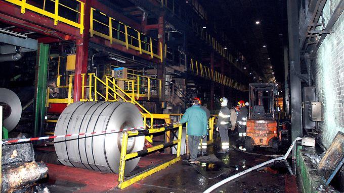 Bei dem Brand kamen sieben Arbeiter ums Leben.