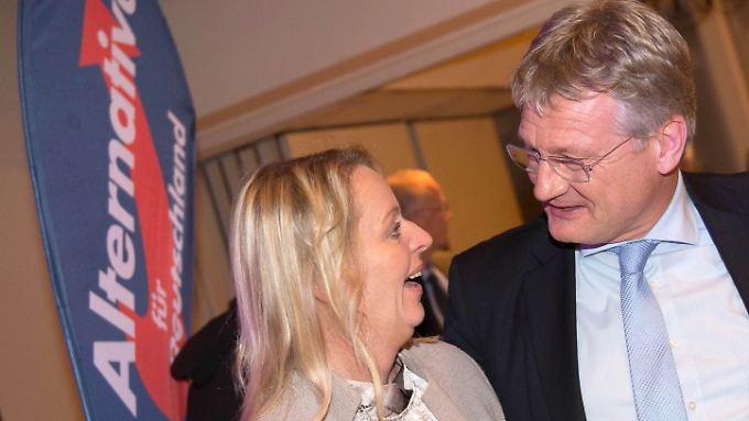 Bundeschef Jörg Meuthen wertete das Ergebnis als Erfolg - in bisherigen Landtag war die AfD nicht vertreten.