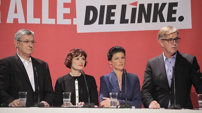 Auch in der neuen Legislaturperiode bleibt die Rollenverteilung gleich: Bernd Riexinger (v.l.) und Katja Kipping bleiben Parteichefs, Sahra Wagenknecht und Dietmar Bartsch Fraktionsvorsitzende.