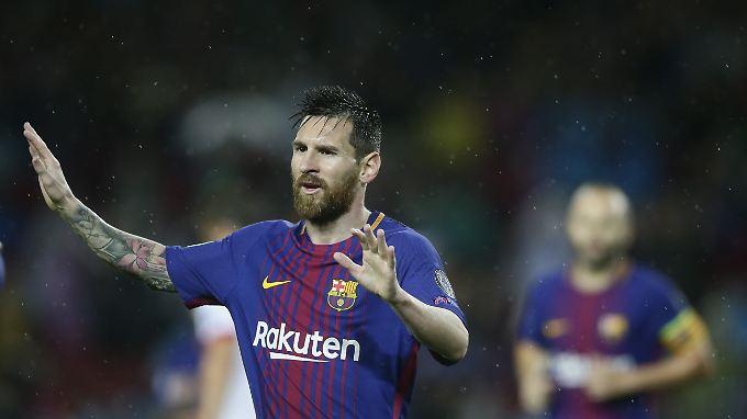Messi mit Barca auf Kurs.