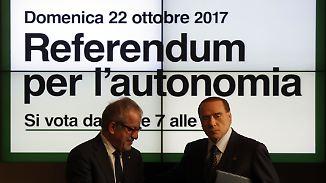 Referendum zur Autonomie: Norditalien probt den Aufstand gegen Rom