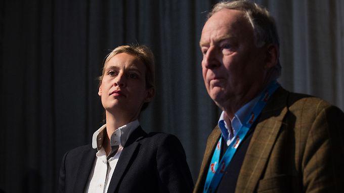 Wirken vereint, sind aber durch ideologische Gräben getrennt: Die AfD-Fraktionsvorsitzenden Alice Weidel und Alexander Gauland.