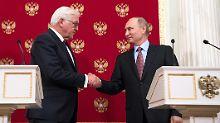 Deutsch-russische Beziehungen: Steinmeier und Putin arbeiten an Annäherung