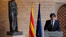 Unabhängigkeitsstreit in Spanien: Puigdemont lehnt Neuwahlen ab