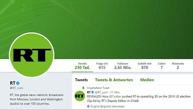 Das US-Justizministerium macht Druck auf den Fernsehsender RT.
