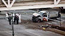Eine Deutsche unter Verletzten: Acht Tote bei Anschlag mit Auto in New York