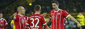 Die Besten unter sich: Arjen Robben feiert gar einen Bayern-Rekord - er ist der erfolgreichste ausländische Torschütze des Klubs.