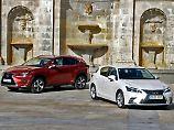Doppelpremiere: In diesem Herbst bietet Lexus verjüngte Versionen von NX (links) und CT an.