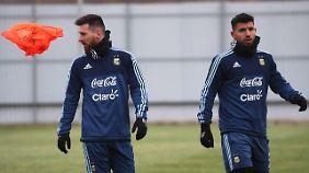 Die argentinischen Superstars Lionel Messi und Sergio Agüero möchten im kommenden Sommer gerne pilgern.