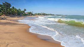 Unberührter Strand auf Sri Lanka.