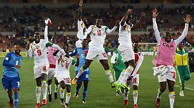 Freude nach dem Schlusspfiff: Senegal fährt im kommenden Jahr nach Russland.