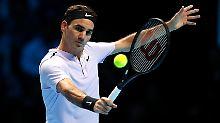 Break, Satz, Tiebreak, Sieg: Federer siegt souverän bei ATP-WM