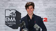 Justin Bieber? Shawn Mendes!: Kanadas neuer Star sahnt bei MTV EMAs ab