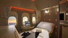 Luxusklasse über den Wolken: Mercedes-Design in First Class von Emirates