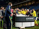 Der Sport-Tag: Siegtaumelnde Schweden crashen Interview