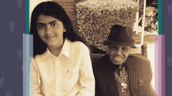 Joe Jackson hat den ein oder anderen Ratschlag für seinen Enkel Blanket, der sich jetzt Bigi nennt.