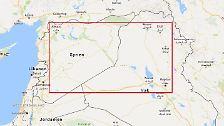 Seine größten Geländegewinne konnte der IS Im Osten Syriens und im Nordwesten des Irak verzeichnen. Bis 2015 eroberte die Terrororganisation hier ein Gebiet, das etwa halb so groß war wie Italien. Die folgende Dokumentation des Verlusts dieser Gebiete vollzieht sich innerhalb des roten Rechtecks.