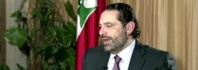 Saad Hariri bei einem TV-Interview in Saudi-Arabien.