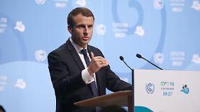 Macron bei der Konferenz in Bonn