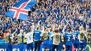 Eine kleine Nation ganz groß: Als bisher kleinste Nation überhaupt sind die Isländer bei einer WM-Endrunde an den Start.