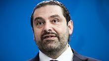 Ankunft in Paris: Präsident erwartet Hariri zurück im Libanon