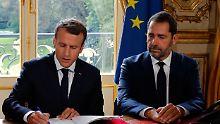 Ein Kandidat - keine Gegenstimme: Castaner führt Macrons Bewegung