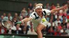 4. Juli 1998: Jana Novotna gewinnt das Finale in Wimbledon.
