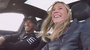 """Mit Lewis Hamilton auf der Teststrecke: """"Das letzte Rennen war tough"""""""