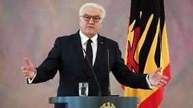 """Bundespräsident Steinmeier: """"Verantwortung gilt nicht nur gegenüber eigenen Wählern"""""""