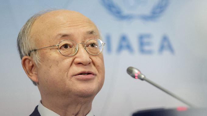 Der Chef der Internationalen Atomernergiebehörde, Yukiya Amano, verteidigt den 2015 geschlossenen Atom-Deal.