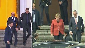 Schwierige Regierungsbildung: Schulz und Merkel müssen sich auf großer Bühne verteidigen