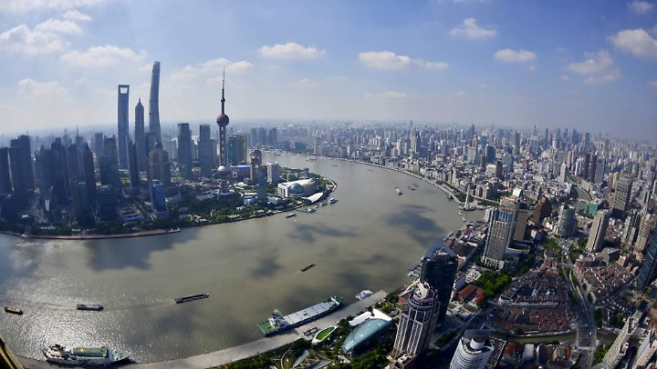 Blick auf Shanghai.