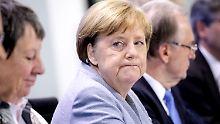 Steht vor schwierigen Koalitionsgesprächen mit der SPD: Angela Merkel.