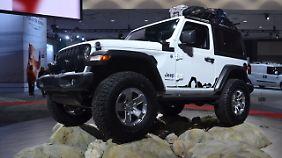 Dass Jeep den neuen Wrangler nur in einer Mopar-Version auf der Messe zeigte, war eine etwas müde Vorstellung.