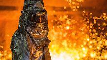 Überkapazität auf 737 Millionen Tonnen Stahl im vergangenen Jahr.