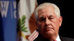 Trumps Personalkarussell: Luft für US-Außenminister Tillerson wird dünner