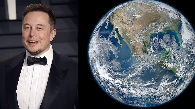 Die Erde soll flach, der Mars aber rund sein, bekommt Elon Musk zu hören.